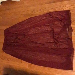 Red Toole Maxi Skirt
